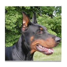 Funny Dobermann Tile Coaster