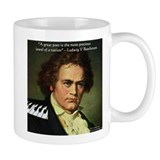 Beethoven Graphic Poetry Quote Small Mug