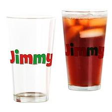 Jimmy Christmas Drinking Glass