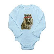 Raccoon Justice Long Sleeve Infant Bodysuit