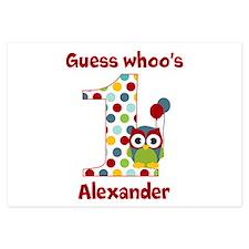 Custom guess whos 1 boy Invitations
