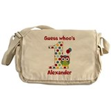 Custom guess whos 1 boy Messenger Bag
