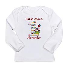 Custom guess whos 1 boy Long Sleeve Infant T-Shirt