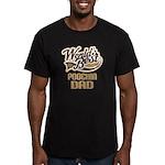 Poochin Dog Dad Men's Fitted T-Shirt (dark)
