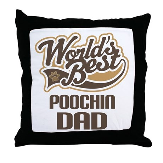 Poochin Dog Dad Throw Pillow