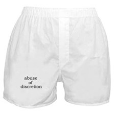 Abuse of Discretion Boxer Shorts