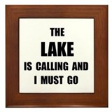 Lake Calling Framed Tile