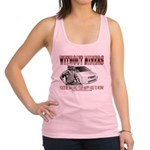 Without Miners Happy Ass Racerback Tank Top