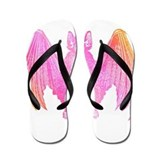 Colorful Bat Flip Flops