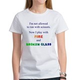 Fire and Broken Glass Men's T-Shirt T-Shirt