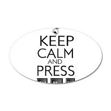 Keep Calm and press control Alt funny 35x21 Oval W