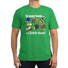 So Many Books... Men's Fitted T-Shirt (dark)