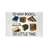 So Many Books... Rectangle Magnet