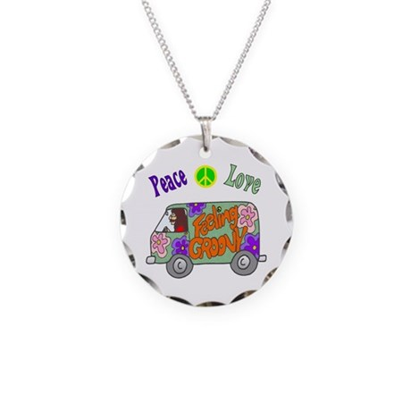 Groovy Van Necklace Circle Charm