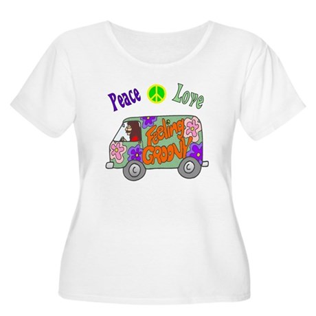 Groovy Van Women's Plus Size Scoop Neck T-Shirt