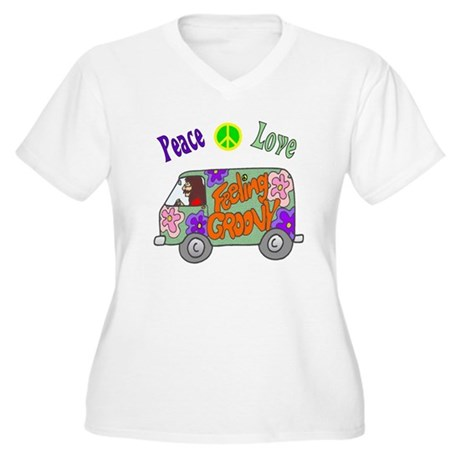 Groovy Van Women's Plus Size V-Neck T-Shirt