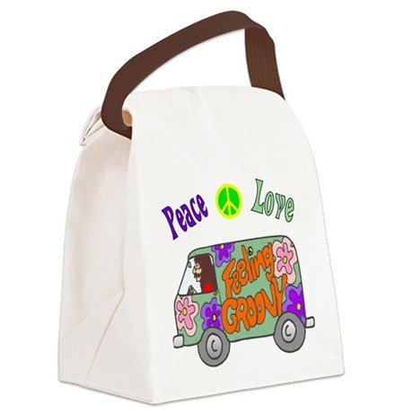 Groovy Van Canvas Lunch Bag