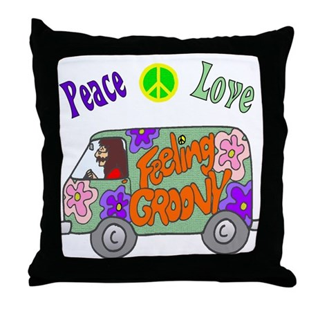Groovy Van Throw Pillow