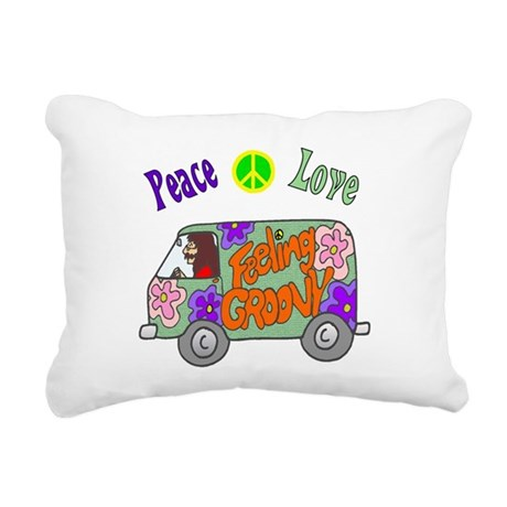 Groovy Van Rectangular Canvas Pillow