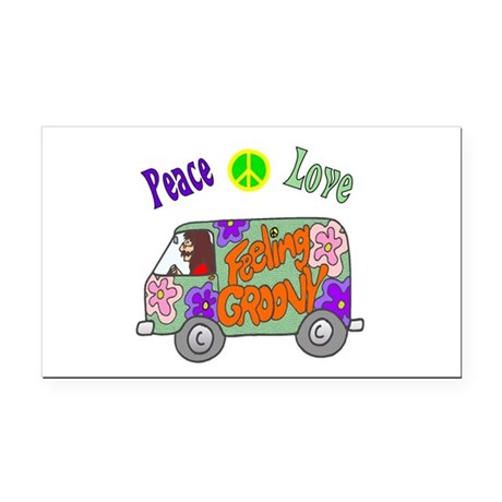 Groovy Van Rectangle Car Magnet