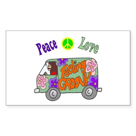 Groovy Van Sticker (Rectangle)