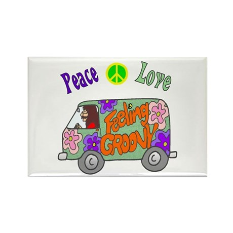Groovy Van Rectangle Magnet (100 pack)