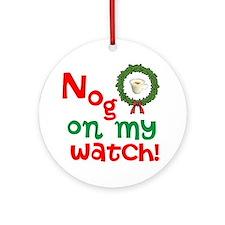Funny Eggnog Christmas Ornament (Round)