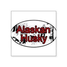 Alaskan Husky Oval Sticker