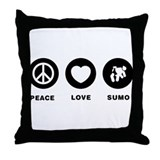 Sumo Wrestler Throw Pillow