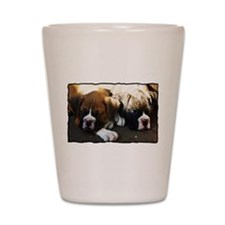 Boxer puppies Shot Glass