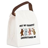 QUARTET CRITTERS Canvas Lunch Bag