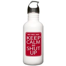 funny anti keep calm parody humor Water Bottle