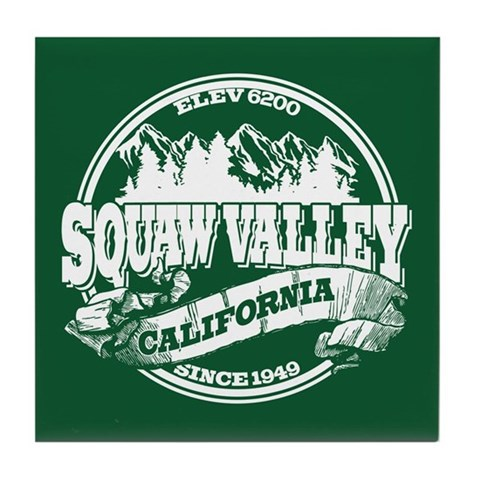 Squaw Valley Old Circle Tile Coaster