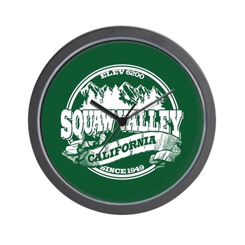 Squaw Valley Old Circle Wall Clock