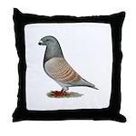 American Show Racer Opal Pigeon Throw Pillow