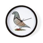 American Show Racer Opal Pigeon Wall Clock