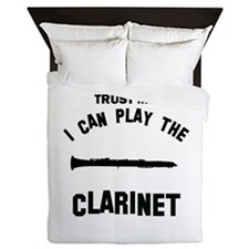 Cool Clarinet designs Queen Duvet