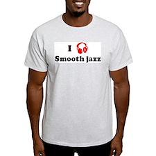 Smooth jazz music Ash Grey T-Shirt