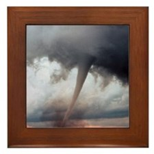 Tornado Fury Framed Tile