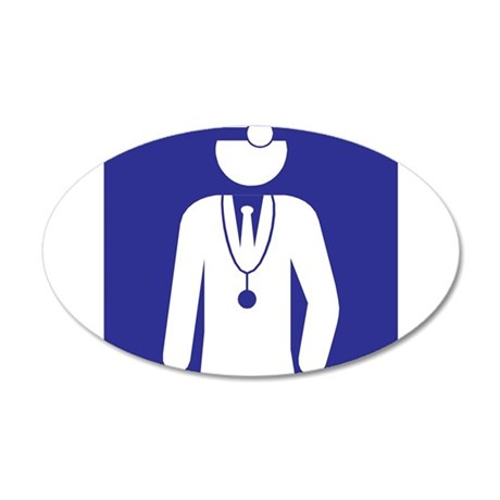 Doctor 20x12 Oval Wall Decal