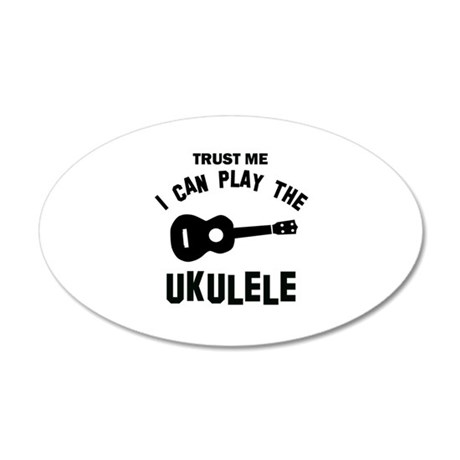 Cool Ukulele designs 20x12 Oval Wall Decal