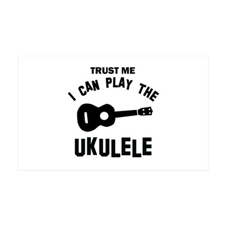 Cool Ukulele designs 35x21 Wall Decal