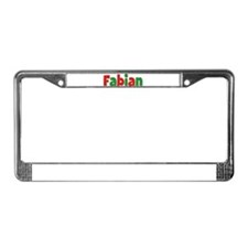 Fabian Christmas License Plate Frame