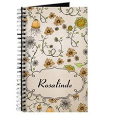 Whimsical yellow flowers with name Journal
