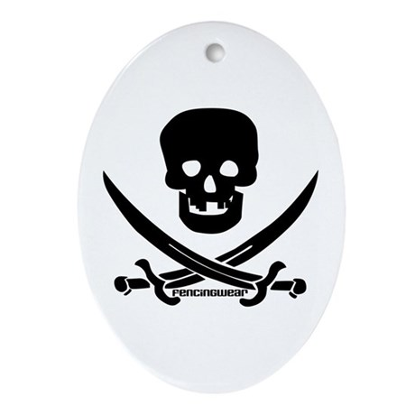 Pirate Fencer Oval Ornament