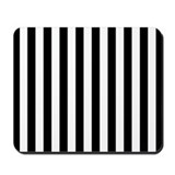 Black and White Stripes (Mousepad)