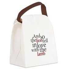 Lion fell in love with the lamb Canvas Lunch Bag