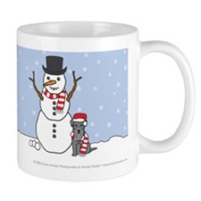 Miniature Schnauzer Winter Coffee Mug
