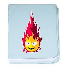 the fire elemental baby blanket