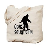 Gone Squatchin print Tote Bag